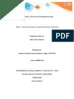 COMERCIO Y NEGOCIOS INTERNACIONALES Fase 1