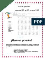 TALLER DE APLICACIÓN lengua poesia