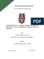 Caracterización de la activadad fructanasa de cepas de Kluyveromyces