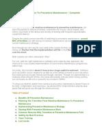 Reactive Maintenance To Preventive Maintenance.docx