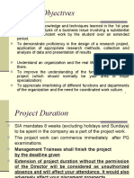 Summer Project Format
