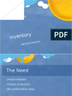Inventory - Service Industry