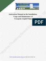 Instruction Manual of Cryogenic Pump (1)