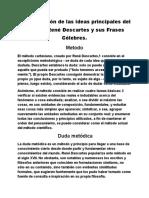 Interpretación de las ideas principales del Filósofo René Descartes y sus Frases Célebres.