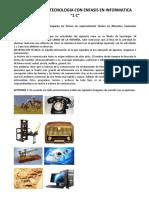Actividades de Tecnologia Con Enfasis en Informatica 1o. c