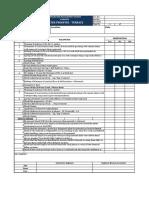 Checklist for Waterproofing - Terrace