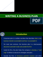 Writing a Business Plan-