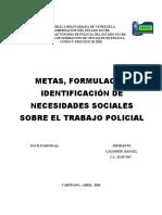 NESESIDADES SOCIALES SOBRE EL TRABAJO POLICIAL