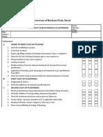 Checklist for External Plastering