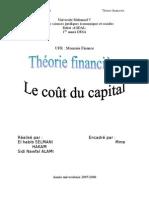 Le coût du capital