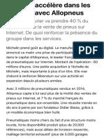 Michelin accélère dans les services avec Allopneus | Les Echos