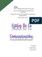 INFORME DE COMUNICACION PARA INFORMATICA