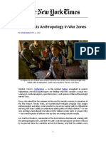 ROHDE_2007_Army enlists Anthropology in War Zones_TNYT