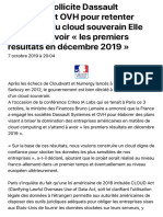 La France sollicite Dassault Systèmes et OVH pour retenter l'aventure du cloud souverain, elle s'att