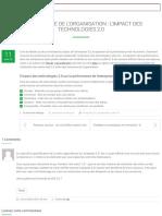 m2ie Performance de l'organisation  L'impact des technologies 2.0 - m2ie 