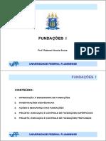 FUNDAÇÕES I - 2019-2 - PROJETO, EXECUÇÃO E CONTROLE DE FUNDAÇÕES SUPERFICIAIS.pdf