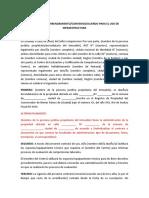 Modelo de Contrato de arrendamiento-convenio-acuerdo para uso de infraestructura