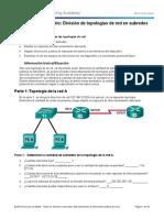 9.1.4.9 Lab - Subnetting Network Topologies resuelto