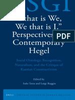 ITALO TESTA ED. CONTEMPORARY HEGEL