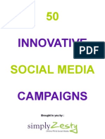 50 Innovative Social Media Campaigns