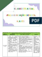 PLANEJAMENTO ANUAL EDUCAÇÃO INFANTIL I