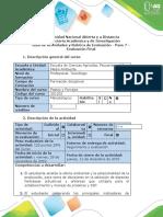 Guía de actividades y rubrica de evaluación - Paso 7 - Evaluación Final