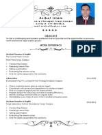 CV of Ashik