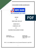 Project on Hdfc Car Loan
