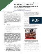 Laboratorio No. 17 - Punto de Ablandamiento de Materiales Bituminosos.pdf