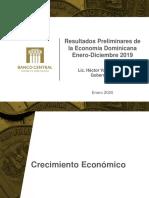 Resultados Preliminares Economia Dominicana Ene-Dic 2019Archivo