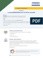 Matematica5 Semana 3 Dia 1 Probabilidad Feria Escolar Ccesa007