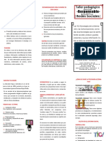 folleto redes sociales