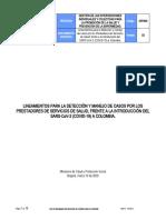 Lineamiento atención COVID 10-03-2020