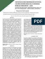 EVALUACION DE DOS PROTOCOLOS PARA INSEMINACION ARTIFICIAL A TIEMPO FIJO EN VACUNOS BROWN SWISS EN LA COMUNIDAD CAMPESINA DE YANACANCHA – LAIVE