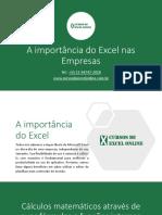A Importancia Do Excel Nas Empresas