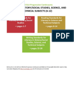 CCLS ELA Progressive Continuums-Gr6-12 Literacy