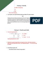 Bài tập chuyển mạch kênh