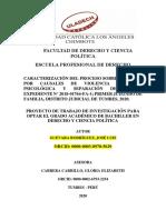 CARATULA DE PROYECTO DE INFORME DE TALLER DE INVESTIGAC.