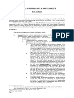 Law1301 Notes - (1) Law on Sales.docx