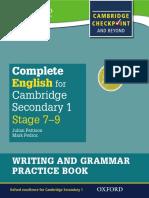 Grammar and Writing Parctise Cambridge Secondary 1 Book