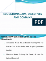 AIMS and domain OF EDUCATION stdnt