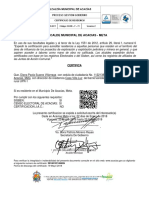 certificado de residencia. diana
