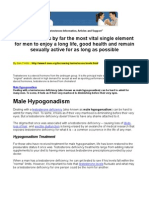 Testosterone Information, Articles and Support