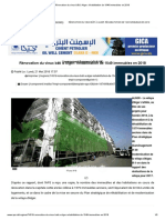 Rénovation du vieux bâti à Alger_ réhabilitation de 1549 immeubles en 2018