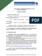 Metodologia de supraveghere a  COVID-19_Actualizare 10.04.2020