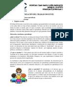 PNI ORGANIZACIÓN DEL TRABAJO DOCENTE
