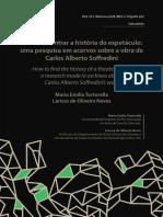 TORTORELLA, MariaE e NEVES, LarissaO - Como encontrar a história do espetáculo_ uma pesquisa em acervos sobre a obra de Carlos Alberto Soffredini.pdf