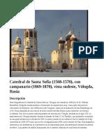 Catedral de Santa Sofía (1568-1570), con campanario (1869-1870), vista sudeste, Vólogda, Rusia