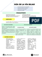 COLELITIASIS - Resumen BlueMed