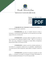 Conselho Nacional de Justiça - Resolução n. 314-2020